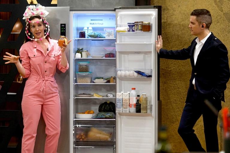 Natalia Oreiro le explicó a Santiago del Moro los secretos de su alimentación, en uno de los programas previos a la gran final