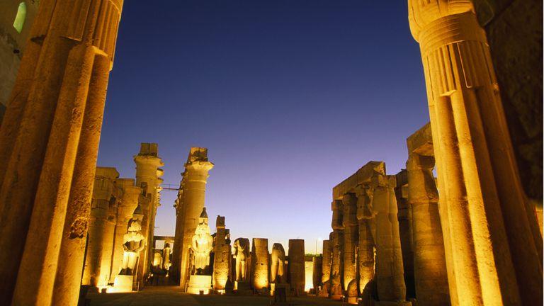 El templo de Luxor, en la antigua capital