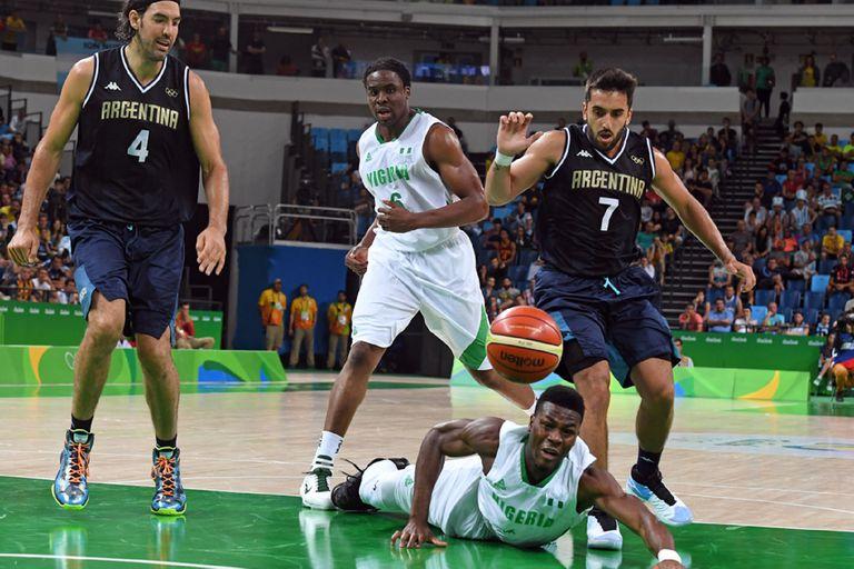 Campazzo y Scola contra Nigeria en los Juegos de Río 2016