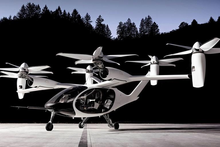 La futurista aeronave cero emisiones de despegue y aterrizaje vertical vuela gracias a seis rotores y puede transportar a cinco personas incluido el piloto