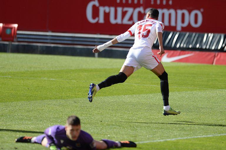 Sevilla-Real Sociedad. Una ráfaga de goles récord y el hat trick de un marroquí