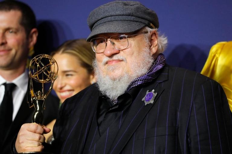 Martin en los premios Emmy en septiembre, cuando Game of Thrones ganó como mejor serie dramática