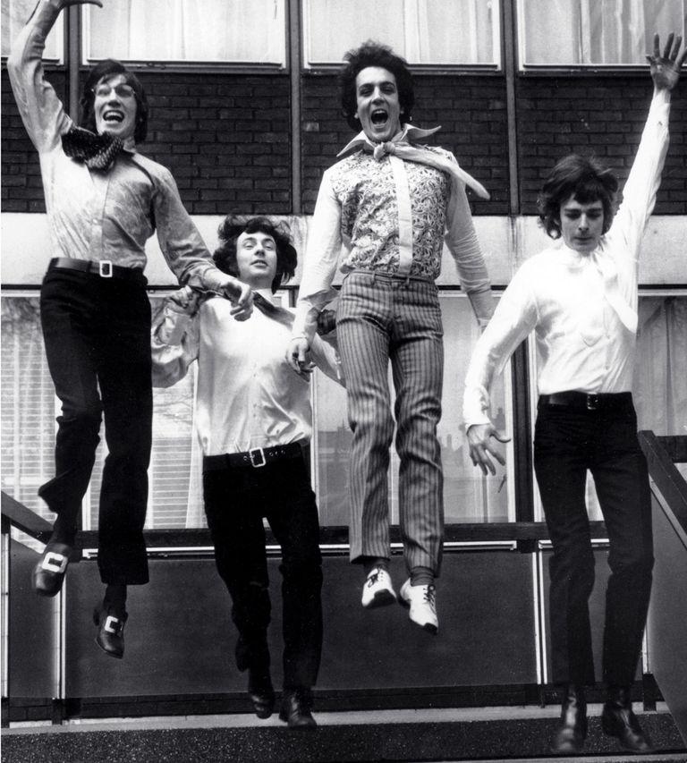 Waters, Mason, Barrett y Wright, miembros originales de Pink Floyd