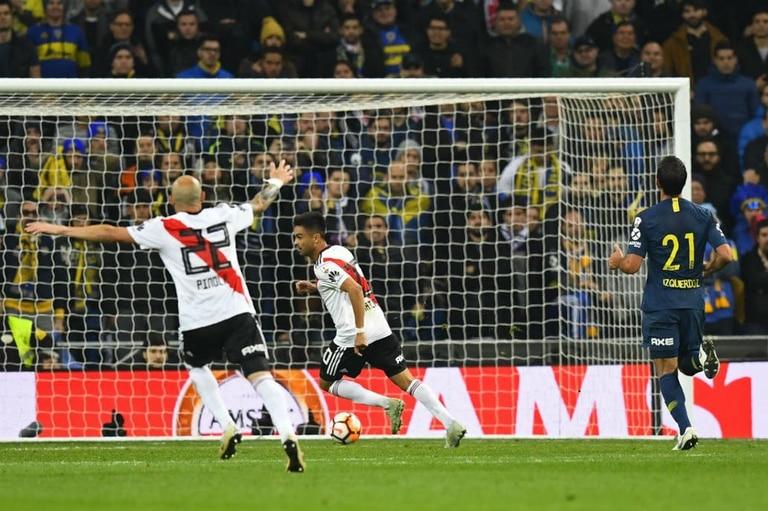 Gonzalo Martínez sella el 3 a 1 de River sobre Boca, en la histórica final de la Copa Libertadores 2018, en Madrid
