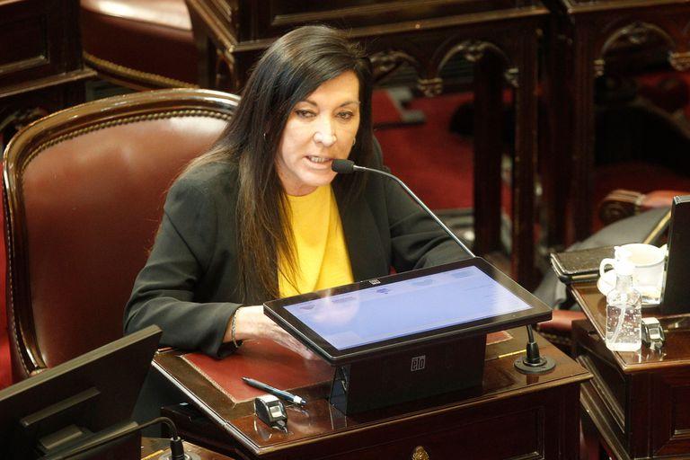 Laura Rodríguez Machado, durante la sesión