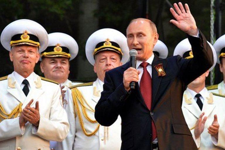 Vladimir Putin en Crimea, mayo del año pasado, después de que la región fuera anexada