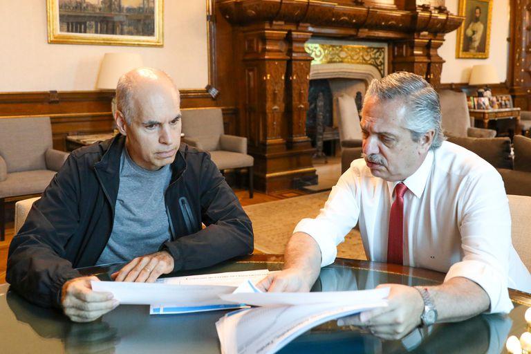 El Presidente y el jefe de gobierno porteño se reunieron en Olivos; quedaron en encontrarse nuevamente antes del viernes