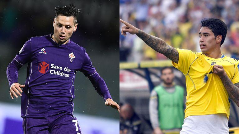 Mauro Zárate deja Fiorentina y se va a Watford; Sergio Araujo abandona Las Palmas y se va a AEK de Grecia