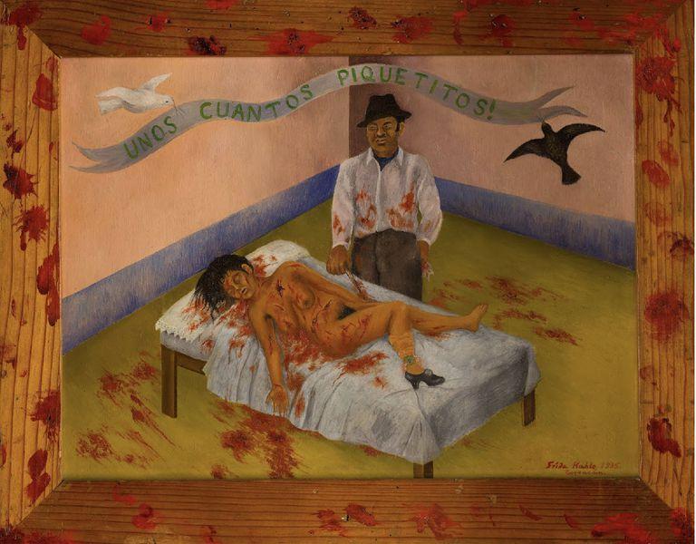 """""""Unos cuantos piquetitos"""" (1935), de Frida Kahlo, tiene su origen en una nota de prensa sobre un feminicidio real sucedido en Ciudad de México"""