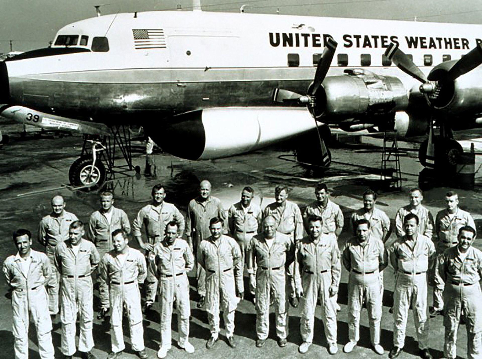 Equipo del proyecto Stormfury 1966. Fuente: NOAA