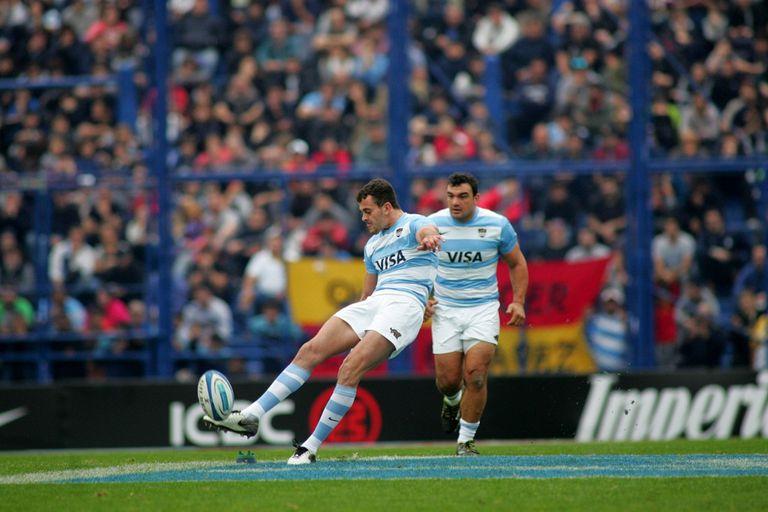 La patada de Boffelli en 2019, durante el Rugby Championship en Vélez