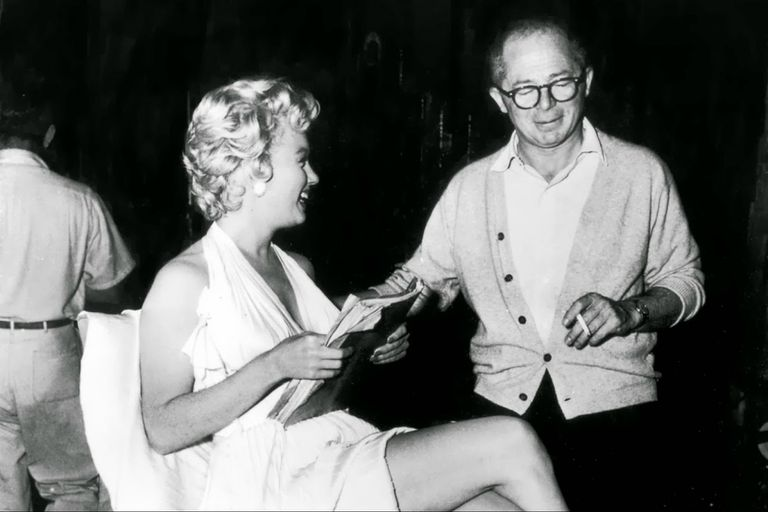 Billy Wilder y Marilyn Monroe en un descanso del rodaje de la película