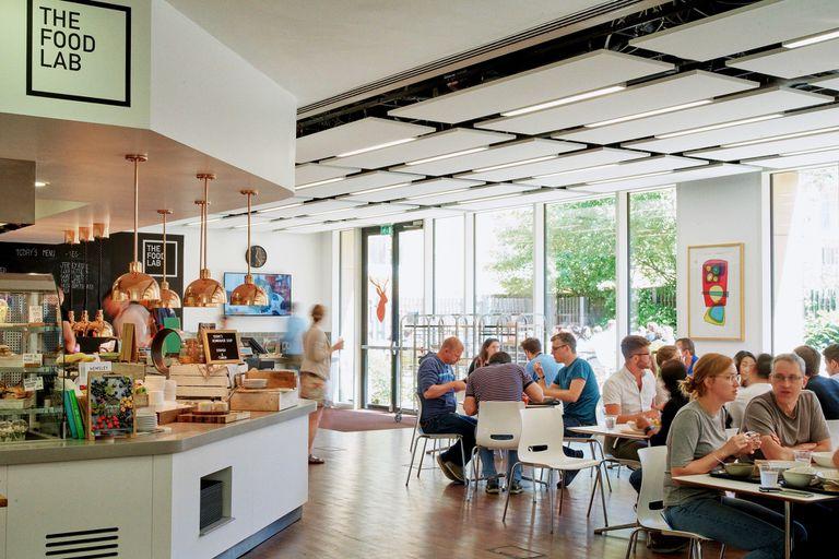 El comedor de las oficinas de Microsoft Research en Cambrige