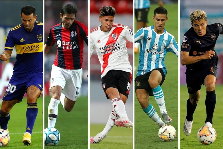 Edwin Cardona (Boca), Oscar Romero (San Lorenzo), Jorge Carrascal (River), Matías Rojas (Racing) y Andrés Roa (Independiente); tampoco a los 10 paraguayos y colombianos se les hace más fácil jugar en los grandes, pero los enganches argentinos corren de atrás en la Copa de La Liga Profesional