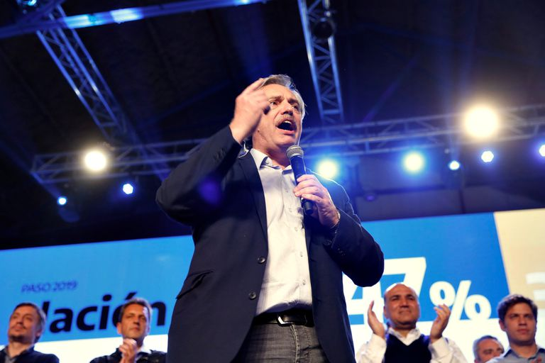 El candidato del Frente de Todos, Alberto Fernández
