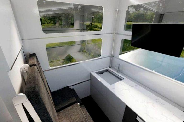 Diseño y tecnología, dos de los estandartes de la casa rodante Cyberlandr