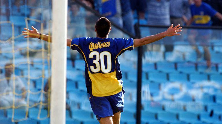 Takahara grita su gol con la camiseta de Boca en aquella tarde inolvidable