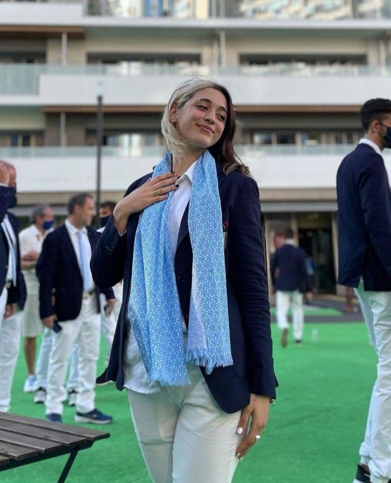 Delfina Pignatiello en la villa olímpica