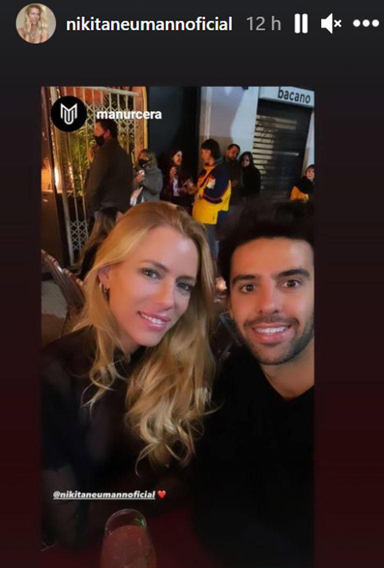 Nicole junto a su novio, Juan Manuel Urcera