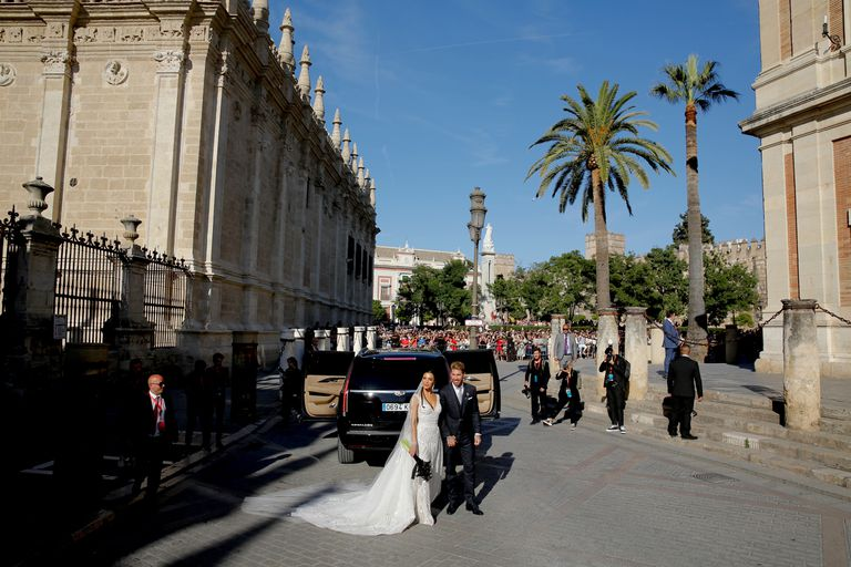 Los novios, en la catedral de Sevilla