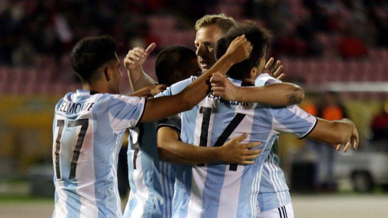 El festejo final de Atlético Tucumán, con la camiseta del Sub 20