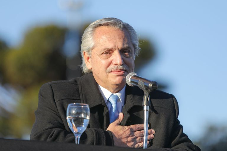 El presidente Alberto Fernández en el acto de ampliación de la ley de Zonas Frías y reducción de la tarifa de gas