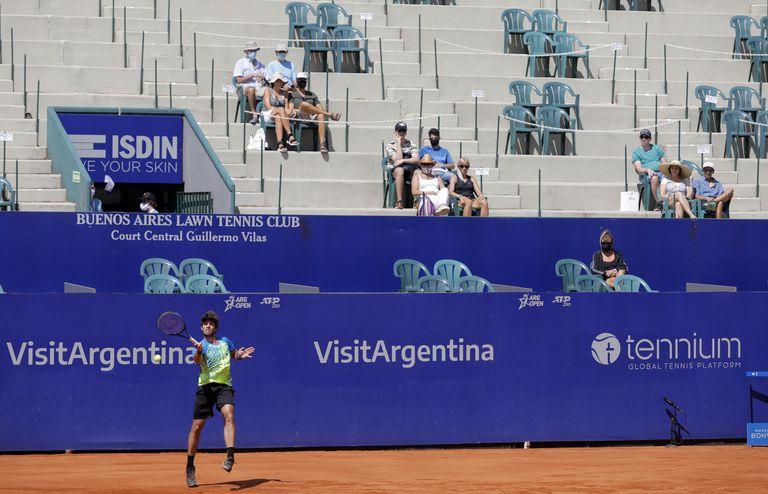 Tribunas despobladas y distanciamiento social: así se vive el Argentina Open 2021