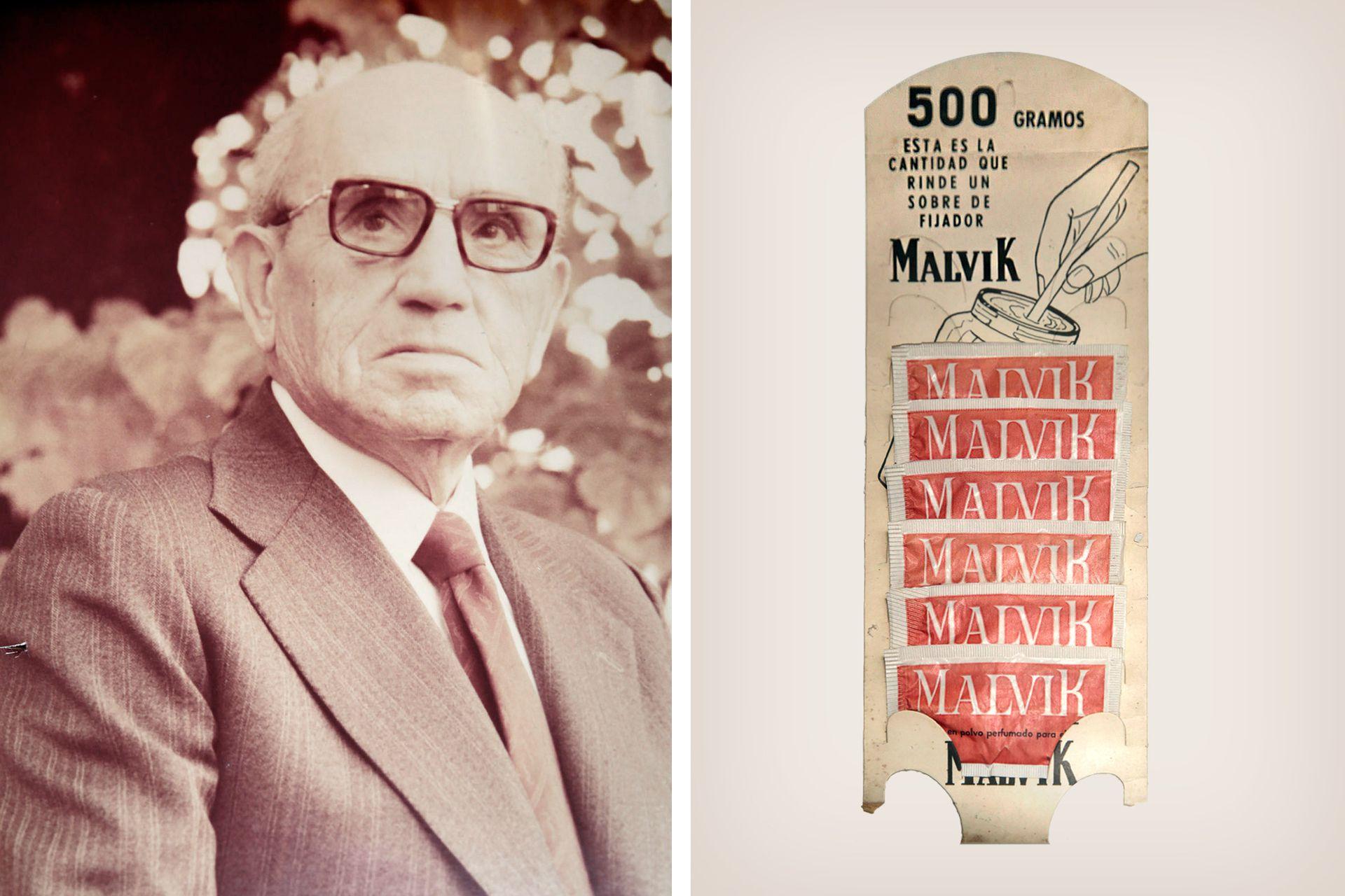 Lorenzo Soriano, y su gomina Malvik: buscando un gelificante para ella fue que llegó hasta las costas de Chubut en 1953