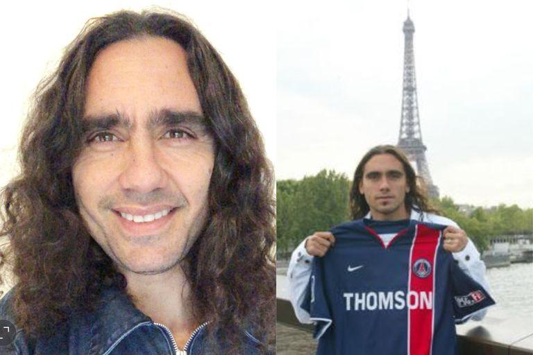 Sorin hoy, a la izquierda, y el testimonio de un paso inolvidable por PSG; los hinchas lo recuerdan como una especie de talismán en el club