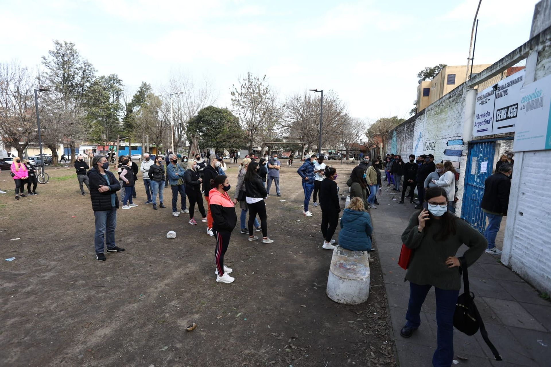 """Jornada de votación de las PASO. en la Escuela Nº 13 """"Armada Argentina"""" en Fuerte Apache"""