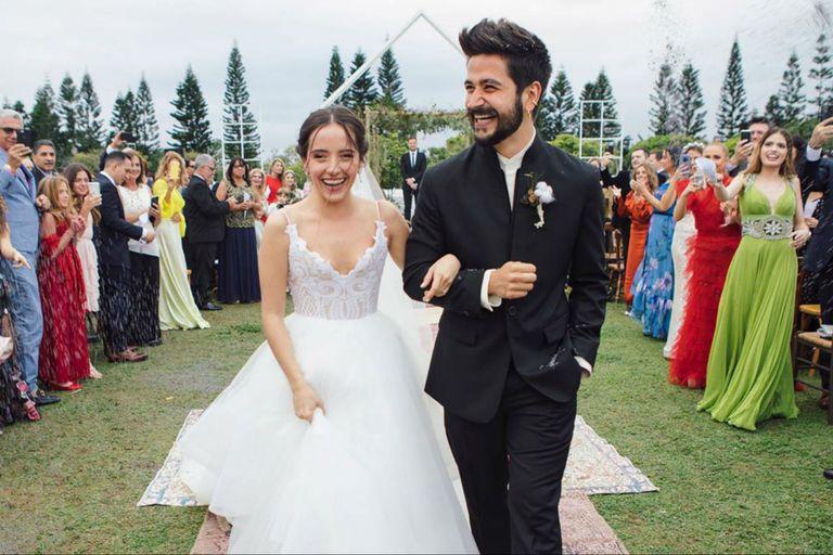 Evaluna, la hija de Ricardo Montaner, se casó con el cantante colombiano Camilo