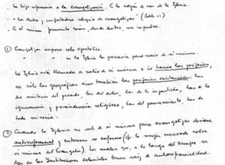 El manuscrito del Papa dado a conocer por un cardenal cubano