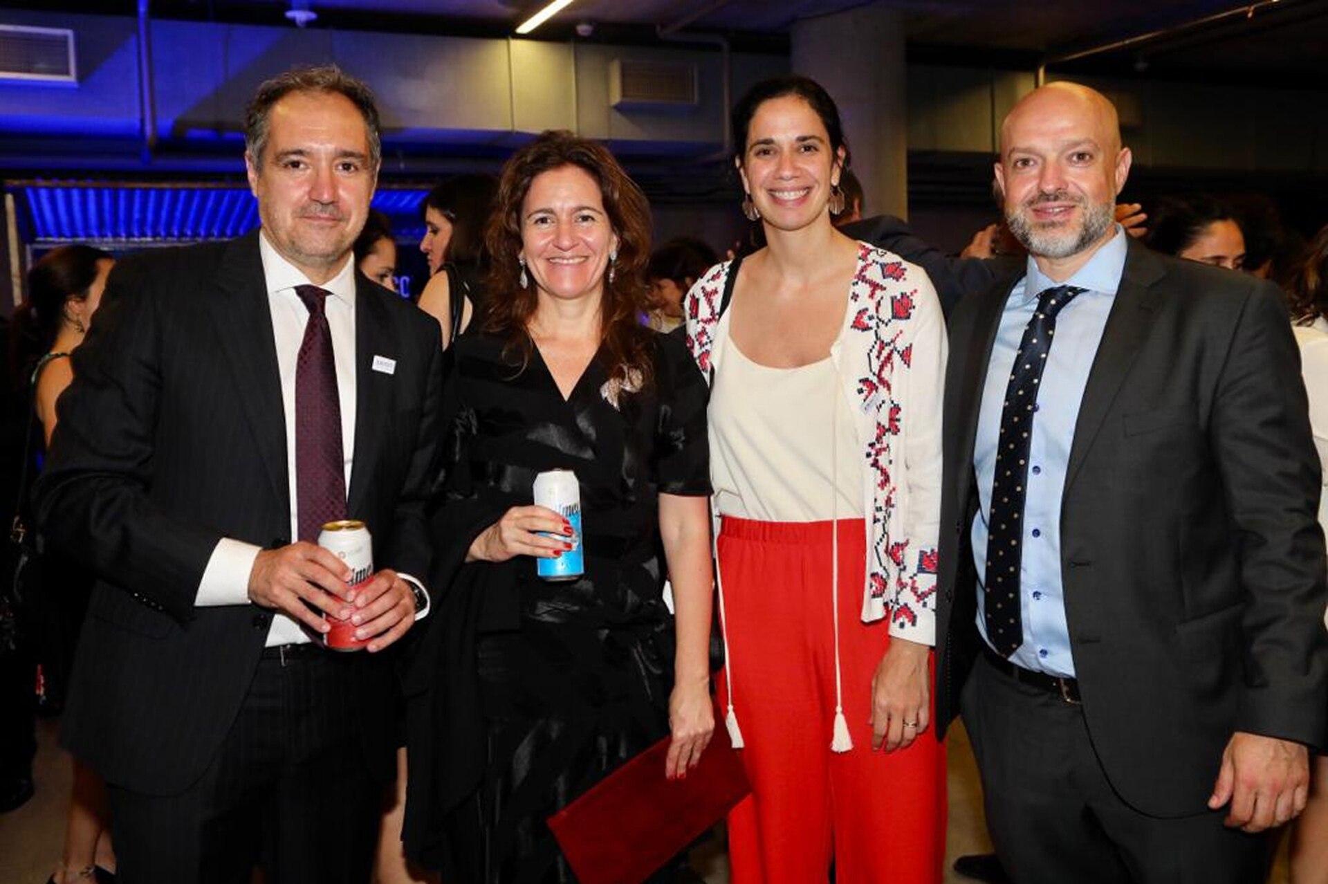 El periodista de LA NACION, Diego Cabot, y la diseñadora Florencia Abd