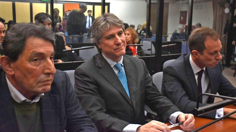 """""""Soy inocente"""", dijo el ex vicepresidente ante los jueces Gabriel Vega, José Michilini y Adrián Grünberg"""