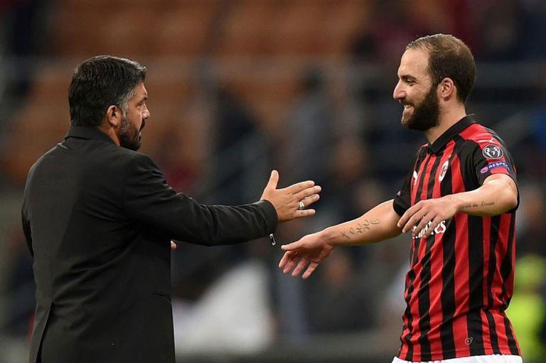 Higuaín y Gattuso, de buena relación pese al poco tiempo de trabajo juntos