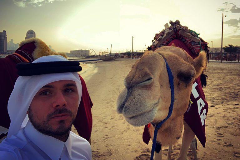 La selfie que se sacó un tricampeón de Grand Slam con un camello