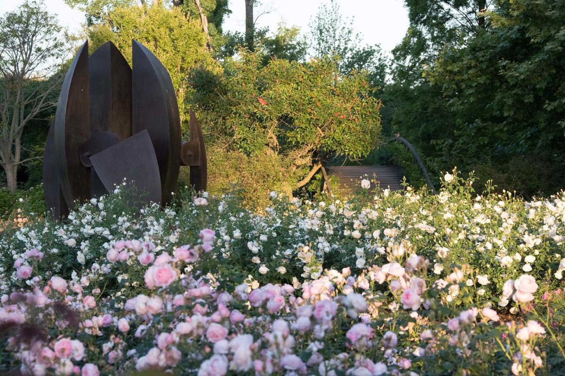 El rosedal ocupa un lugar de privilegio y reúne mil rosales.