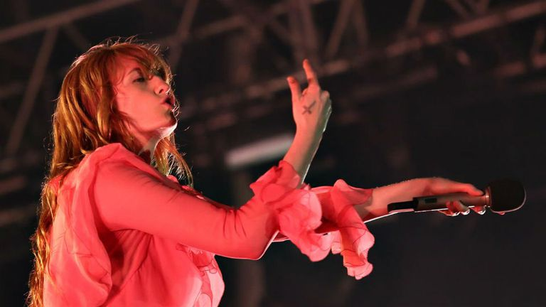 Florence Welch, en Lollapalooza Argentina