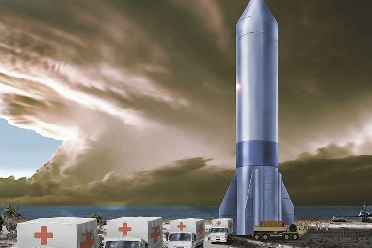 Rocket Cargo permitiría la entrega rápida de cargas útiles del tamaño de una aeronave para una logística global ágil, como asistencia humanitaria urgente y respuesta a desastres.
