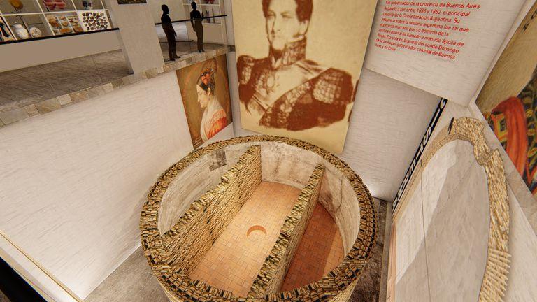 Así será el museo de sitio que abrirá en el solar donde vivió Rosas en Monserrat