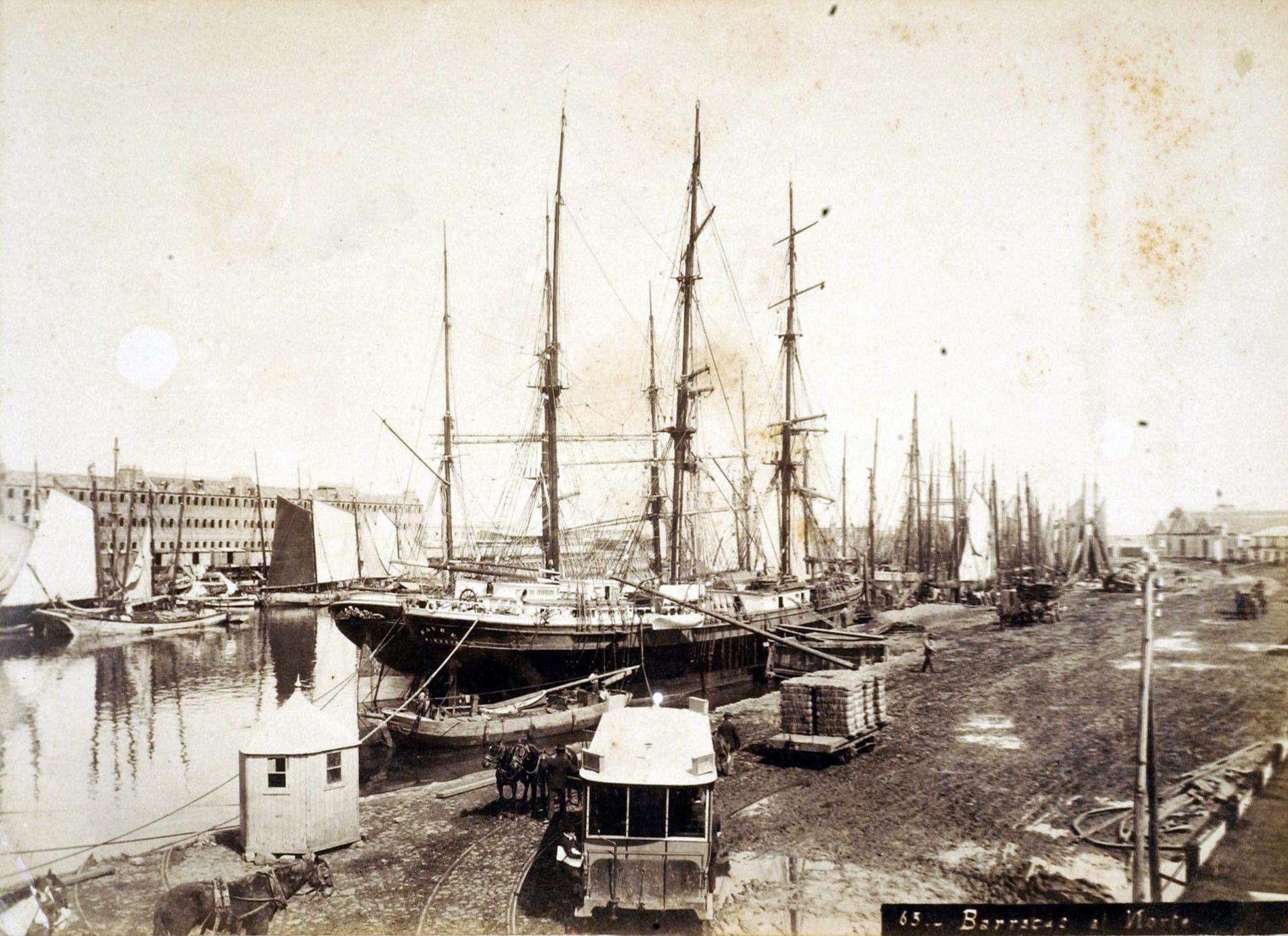 Vista del Puerto del Riachuelo, obra de Huergo