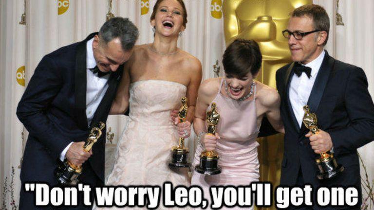 Algunos ganadores del Oscar se ríen de Leo