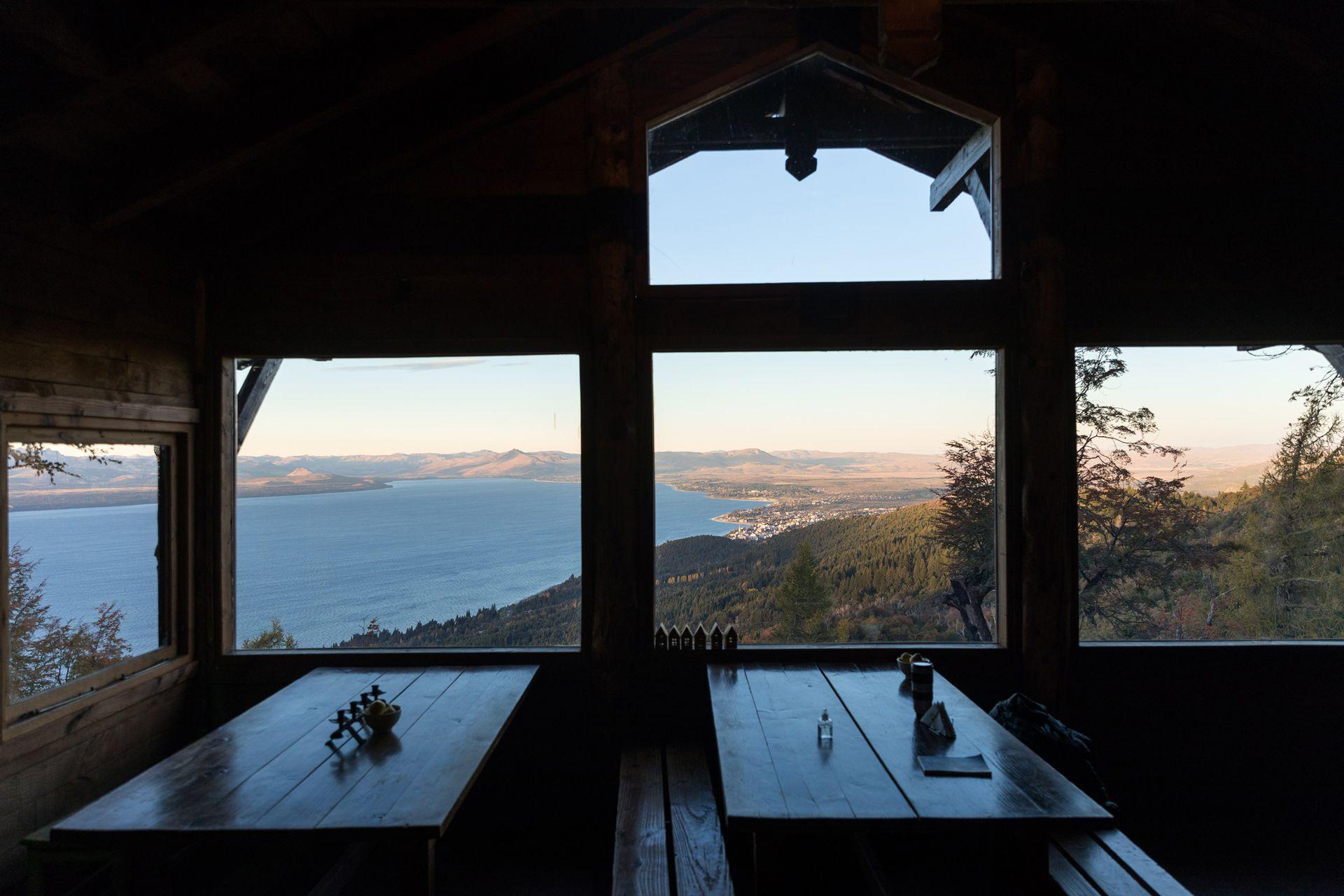 La vista del refugio Berghof