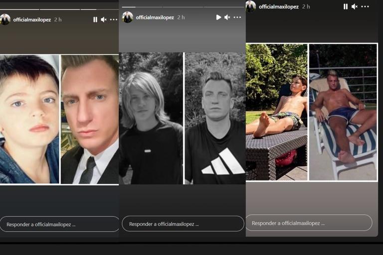 Maxi López compartió fotografías con sus hijos en su cuenta de Instagram