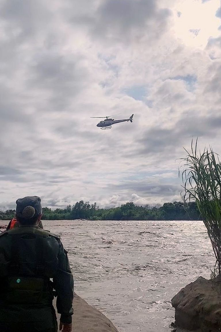 Helicópteros de la Gendarmería participan de la búsqueda