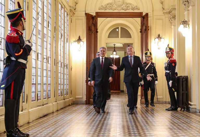 """Duque y Macri acordaron """"acelerar"""" el acuerdo Alianza del Pacífico-Mercosur"""