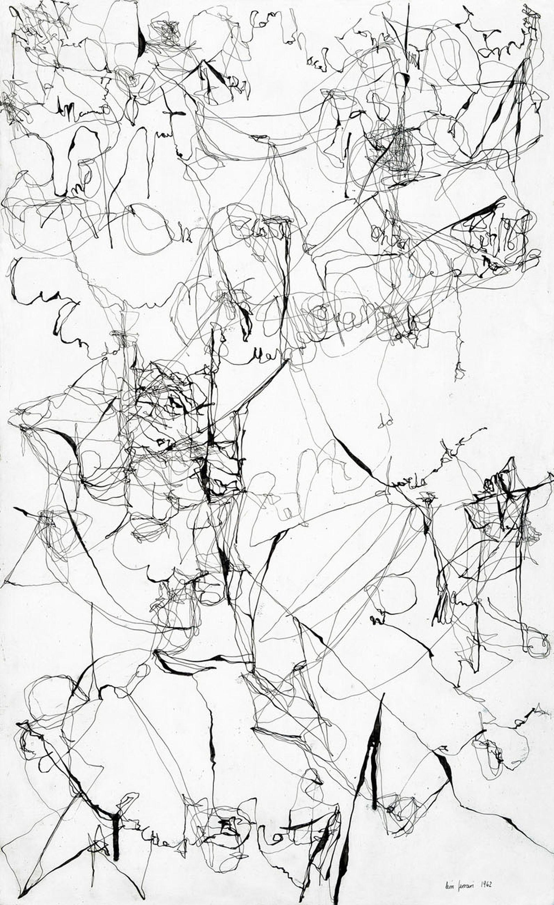"""""""Sin título"""" (1962), de León Ferrari. Galería Maman Fine Art, Sección Principal"""