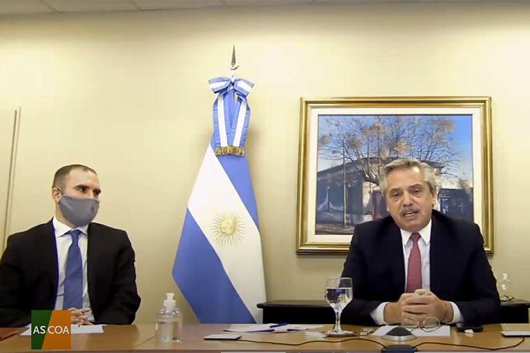 El ministro de Economía, Martín Guzmán, y el presidente Alberto Fernández