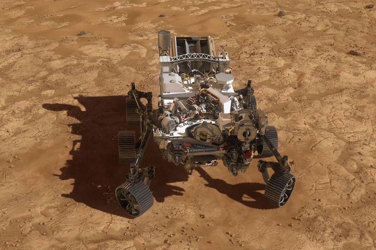 La agencia espacial estadounidense publicó una animación que muestra cómo será el descenso de Perseverance, el rover que explorará el suelo marciano en busca de señales de vida