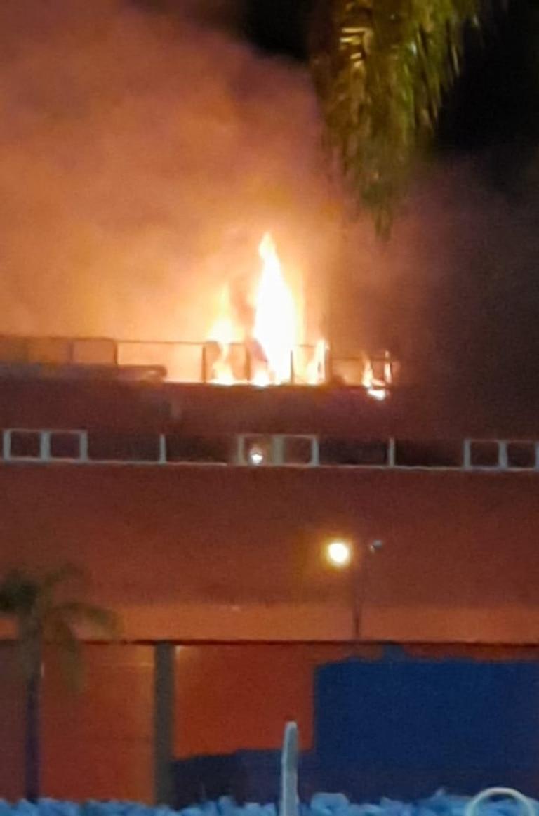El autódromo de Termas de Río Hondo, en llamas